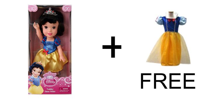 Buy the Snow White Toddler doll and get this Princess Deal free!