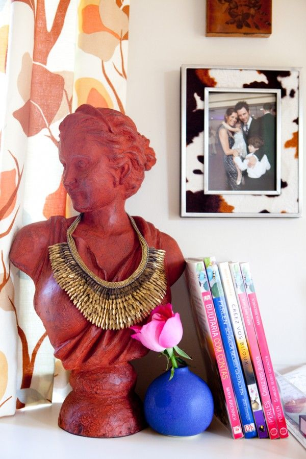 Busts are a fun and elegant way to display jewelry.