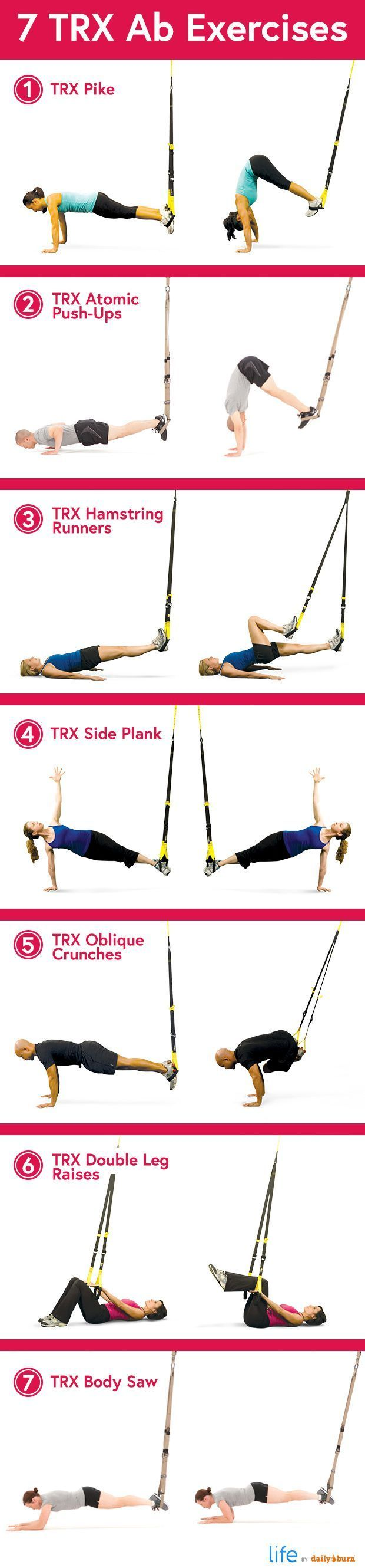 7 TRX Ab Exercises