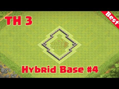 Clash Of Clans Town Hall 3 Defense Coc Th3 Hybrid Base Layout Strategy Dan