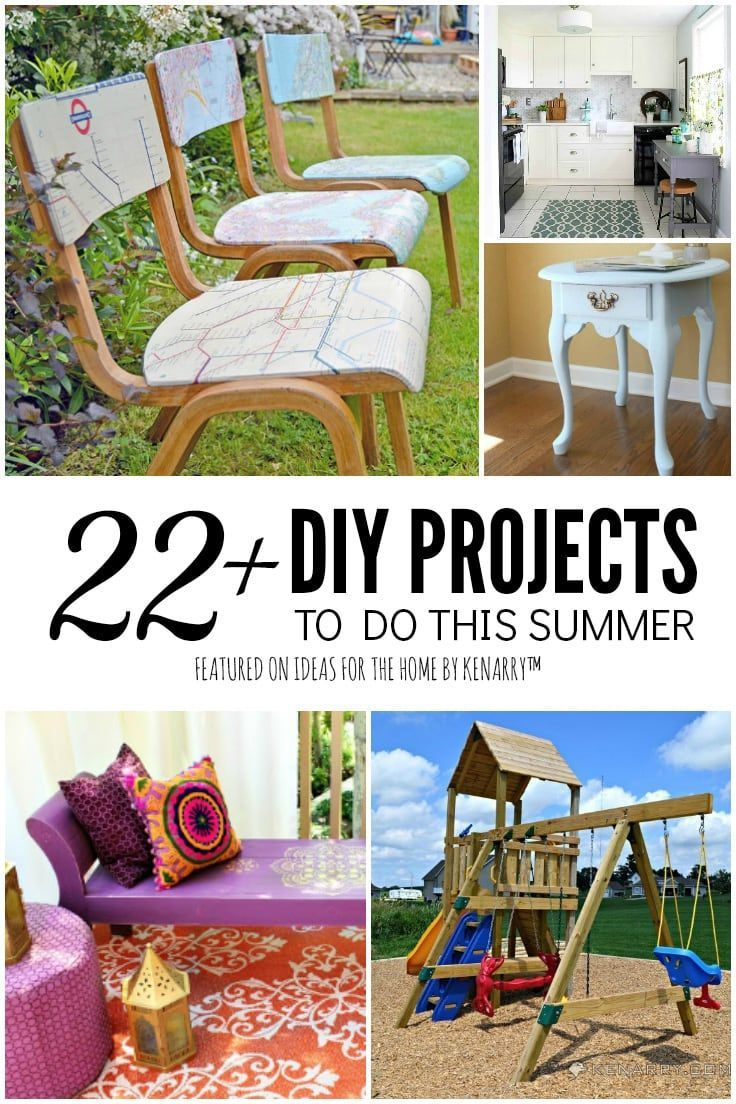 22 Diy Home Projects To Do This Summer Cool Diy Projects Diy House Projects Simple Diy Home Improvement
