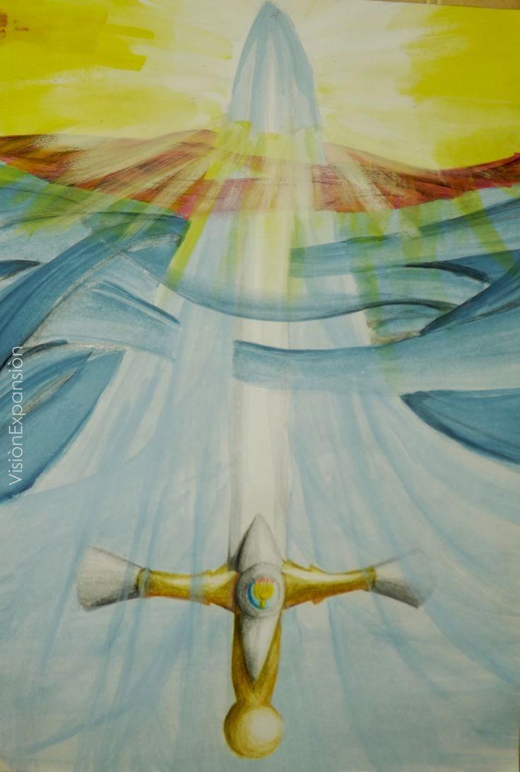 Porque la palabra de Dios es viva y eficaz, y más cortante que toda espada de dos filos; y penetra hasta partir el alma y el espíritu, las coyunturas y los tuétanos, y discierne los pensamientos y las intenciones del corazón. Hebreos 4:12  La palabra de Dios, su espada, ordenando nuestro ser, poniendo nuestro espiritu en el lugar que debe estar, traspasando el alma y la carne.