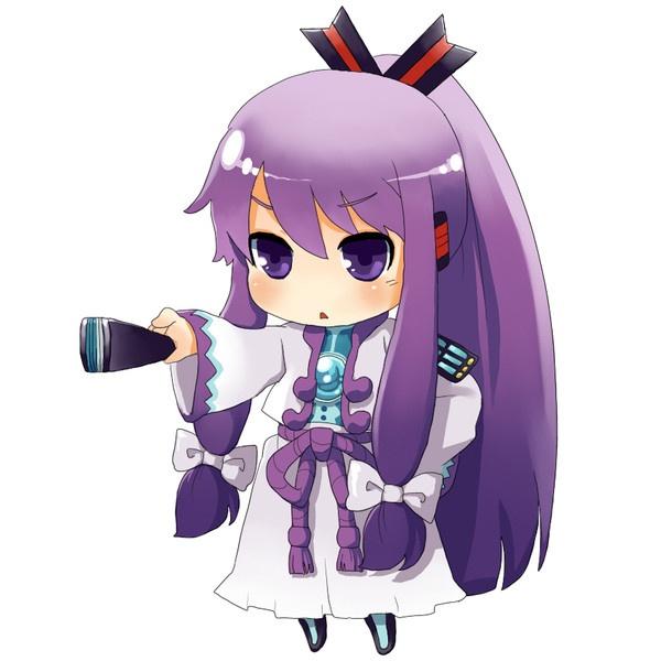 bow chibi folding fan hair bow headset kamui gakupo long ...