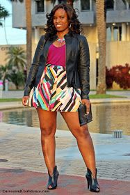 Curves and Confidence | Miami Fashion Blogger: Weekend Wear: Brush Strokes