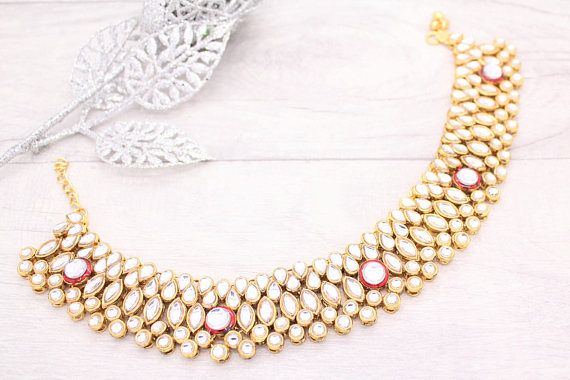 Gold Silver Heavy Bridal Anklet Indian Payal Ankle Chain Foot