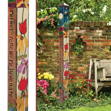 Peace Garden Art Pole With Metal Auger