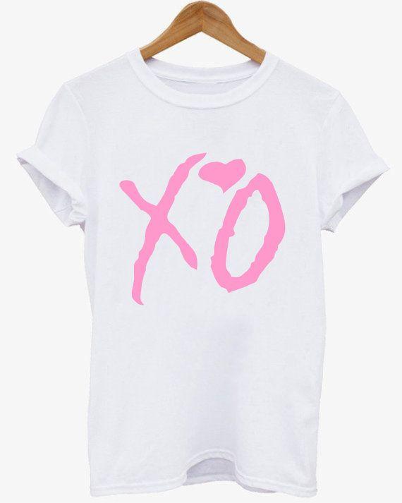 XO the weeknd Pink shirt Ovoxo XO shirt  The weeknd by lwtdesign
