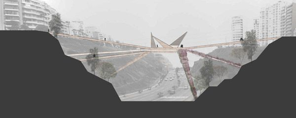 Miraflores-Barranco Pedestrian Bridge In Lima