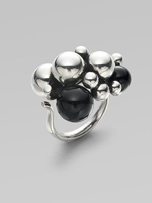 Georg Jensen - Grape Black Agate Sterling Silver Ring - Saks.com