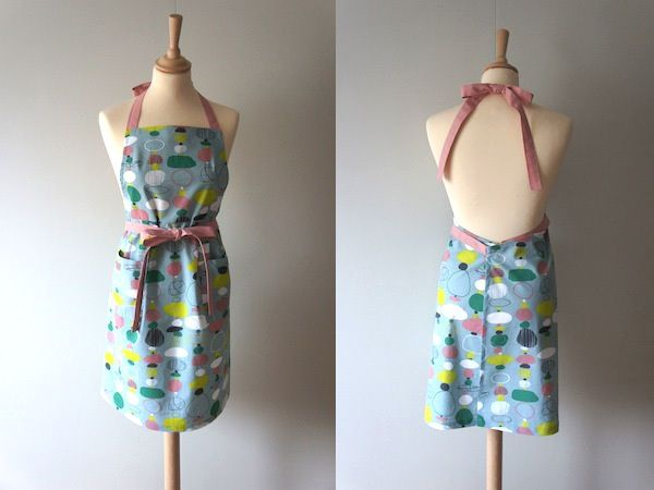 Apron with my own pattern.