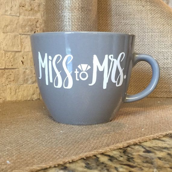 Ring Coffee Mug For Newly Engaged Bride to Be by FutureMrsDesigns