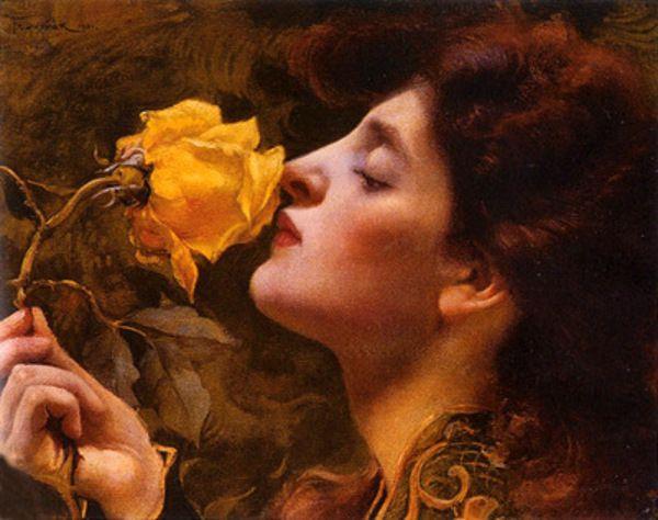 Lady Of The Roses Franz Dvorak (1862 – 1927)