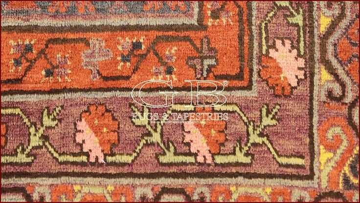 """Khotan of end XIXth. Cent. coming  from oasis of Yarkand with """"to pomegranate"""" pattern: elaborate pattern to grate on a black field in the time has created"""