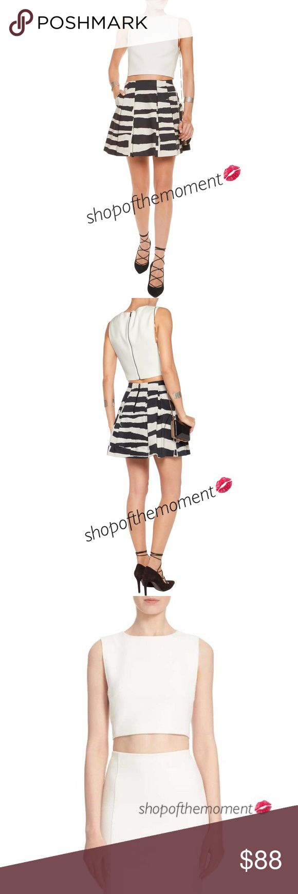 """⛱🆕 Alice + Olivia ❉ Tailored Crop Top ❉ Off White Alice + Olivia  Tailored Crop Top  in Off White Brand New with Tags in Manufacturer's Packaging  ⛱⛱⛱⛱⛱⛱⛱⛱⛱⛱⛱⛱  A tailored sleeveless cropped top features sleek angular armholes and an exposed metallic back zip for a crisp, modern look that will see you through the sunny months. Lined.   Approximate Measurements: Length: 18"""" from shoulder  Fabrication: 64% polyester/32% viscose/4% elastane Dry clean recommended   ⛱⛱⛱⛱⛱⛱⛱⛱⛱⛱⛱⛱  ✗ Drama ✗…"""