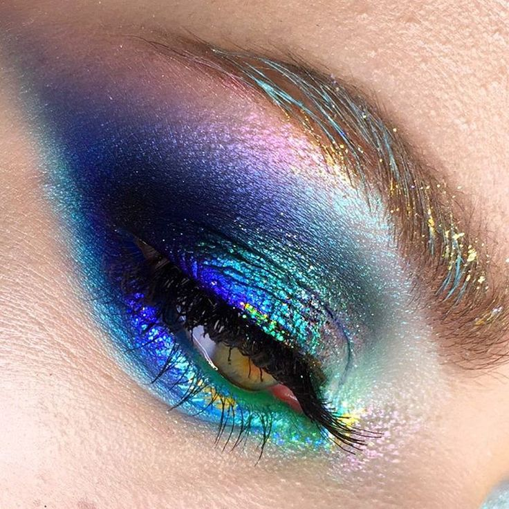 pretty mermaid eye makeup