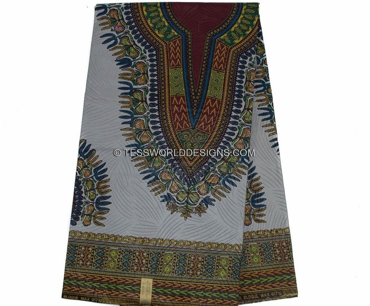 DS46 - Grey Dashiki Fabric, small design 6 yards