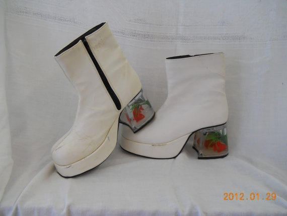 Vintage Fish Tank Mens Platform Shoes Boots Must By