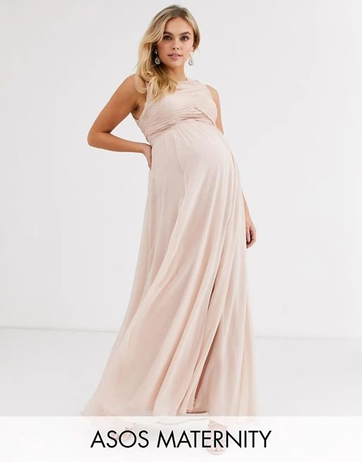 119 asos design maternity bridesmaid maxi dress with soft