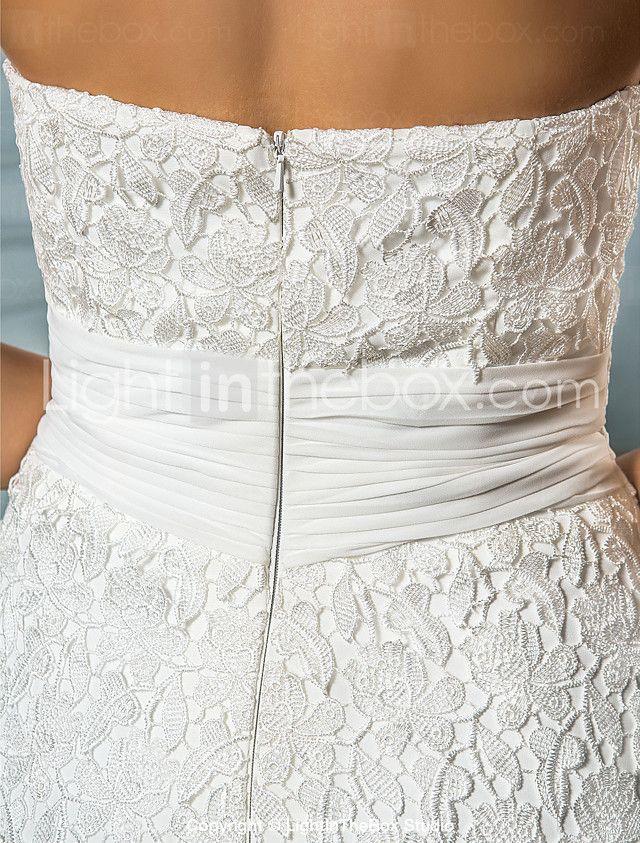 Lanting Bride® Trompeta / Sirena Tallas pequeñas / Tallas Grandes Vestido de Boda - Clásico y Atemporal / Glamouroso Inspiración Vintage 2017 - €193.99