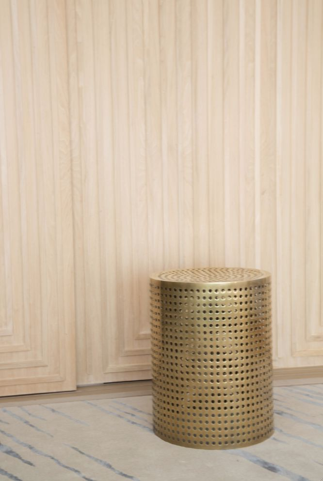 Perforated Bronze Stool #kellywearstler #furniture #home #decor #perforated…