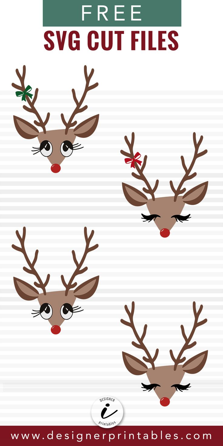 Download Christmas Reindeer Bundle | Free stencils, Cricut ...