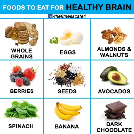 Foods to eat for healthy brain