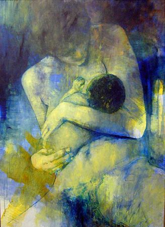 Breastfeeding art by Ademaro Bardelli