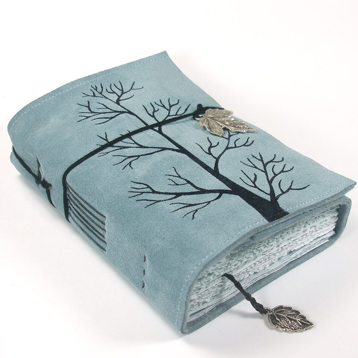 Winter Tree, Leather Journal, Notebook Suede | Journal ...