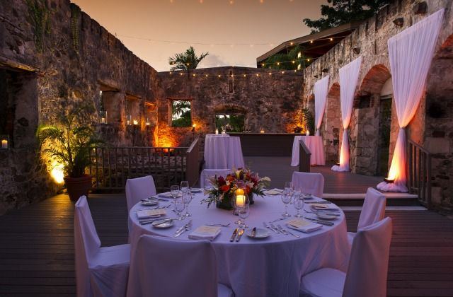 Sugar Mill Ruins Wedding Reception at Caneel Bay Resort