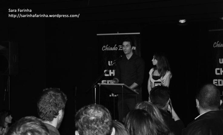 Os apresentadores do evento
