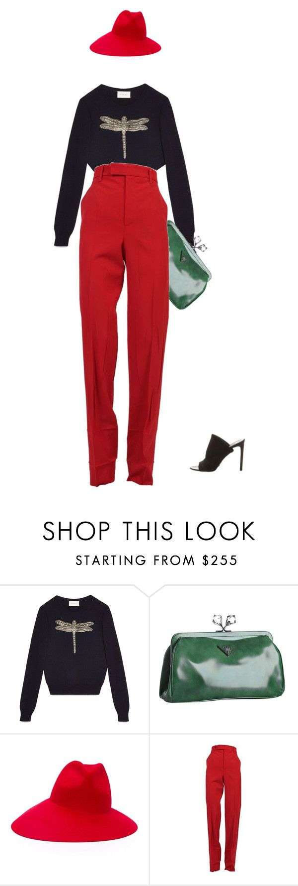 """""""like a rolling ston"""" by clue ❤ liked on Polyvore featuring Gucci, Prada and Balenciaga"""