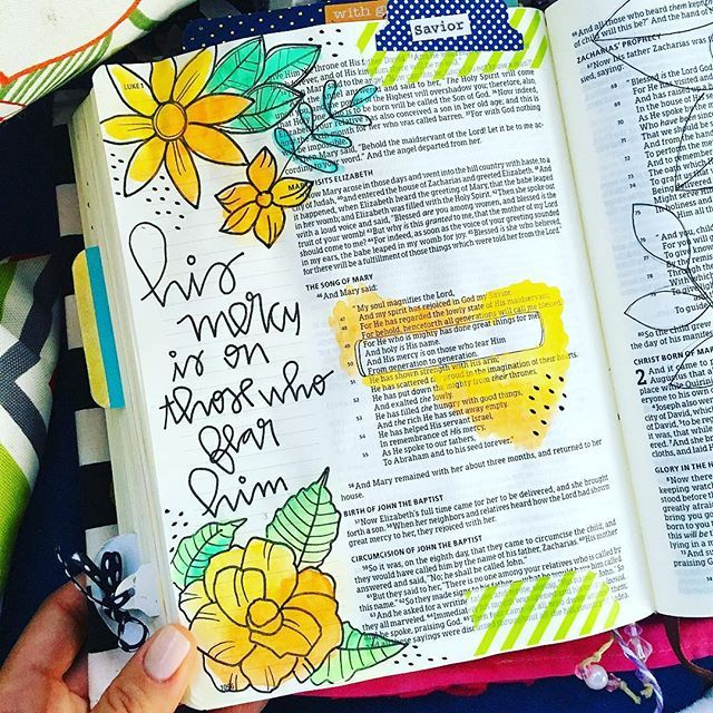 What a merciful God I have! We started bible journaling classes last night and I woke up this morning filled with gratitude. A group of ladies into the Word having as much fun as when we were in Kindergarten! We will be studying from Luke for the next 6 weeks. What an amazing book! I can't wait to see how God will surprise us! If you didn't get a chance to sign up for this class don't worry, we will have another one coming up in November! #illustratedfaith #biblejournaling #colorfulbible…