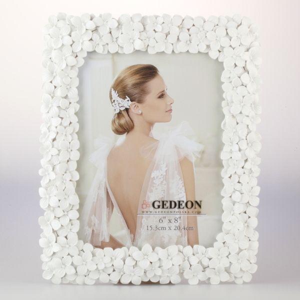 Przepiękna, romantyczna ramka gipsowa na zdjęcie 15x21 cm