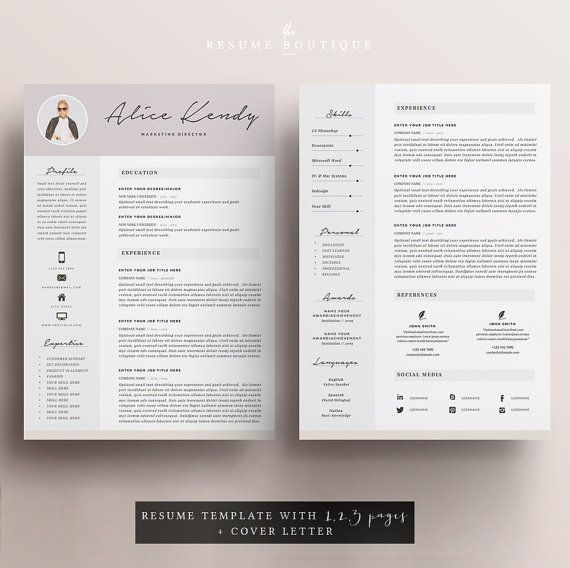 17 best Resume\/CV template by Spot-On Resume images on Pinterest - two page resume sample