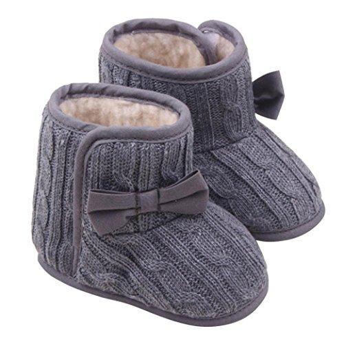 Baby Girl Anti Slip Prewalker Shoes (3~6 Months, Gray)