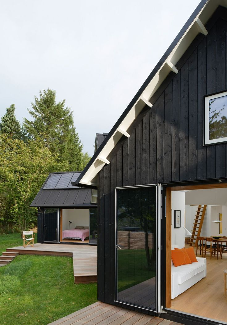 Village House Powerhouse Company was asked to design a weekend house for a  young family in northern Sjlland, Denmark. Village House is an exploration  on ...