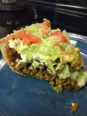 Why have I never thought of using homemade pie crust with taco stuff? Drop the chalupa. Haha