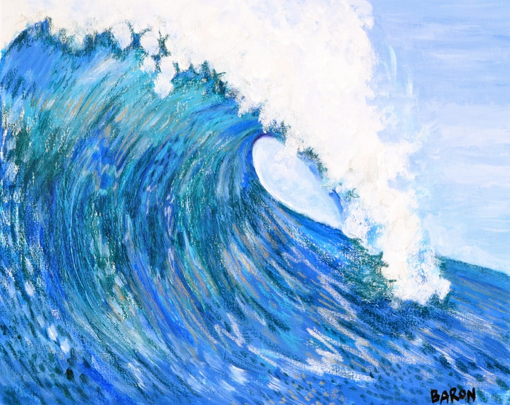 Large Wave Painting