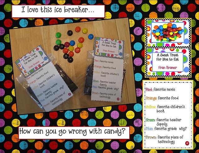 Teacher ice breaker - let them eat candy! @Valerie Price