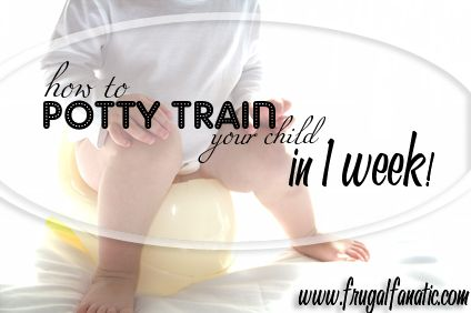 Potty Training – Potty Train Your Child in 1 Week