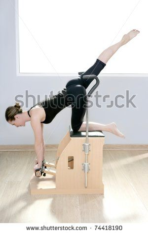 Combo Wunda Pilates Chair Woman Fitness Yoga Gym Exercise Stock Photo 74418190 : Shutterstock