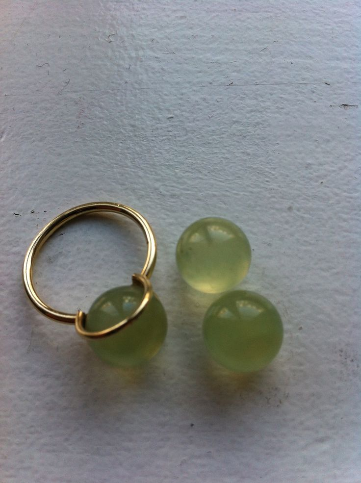 Prehnite and gold. The powerful gem prehnite will make it so much easier for you to follow your goals, as it will teach you to see clear what you really want from life.