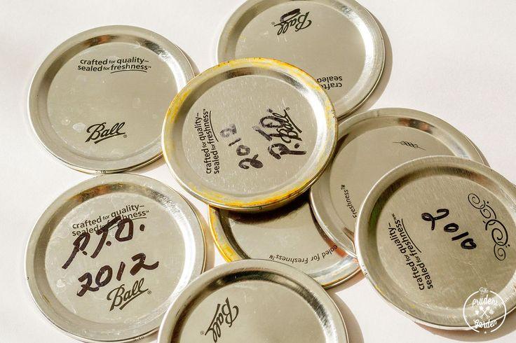 Hometalk :: Mason Jar Lid Plant Label