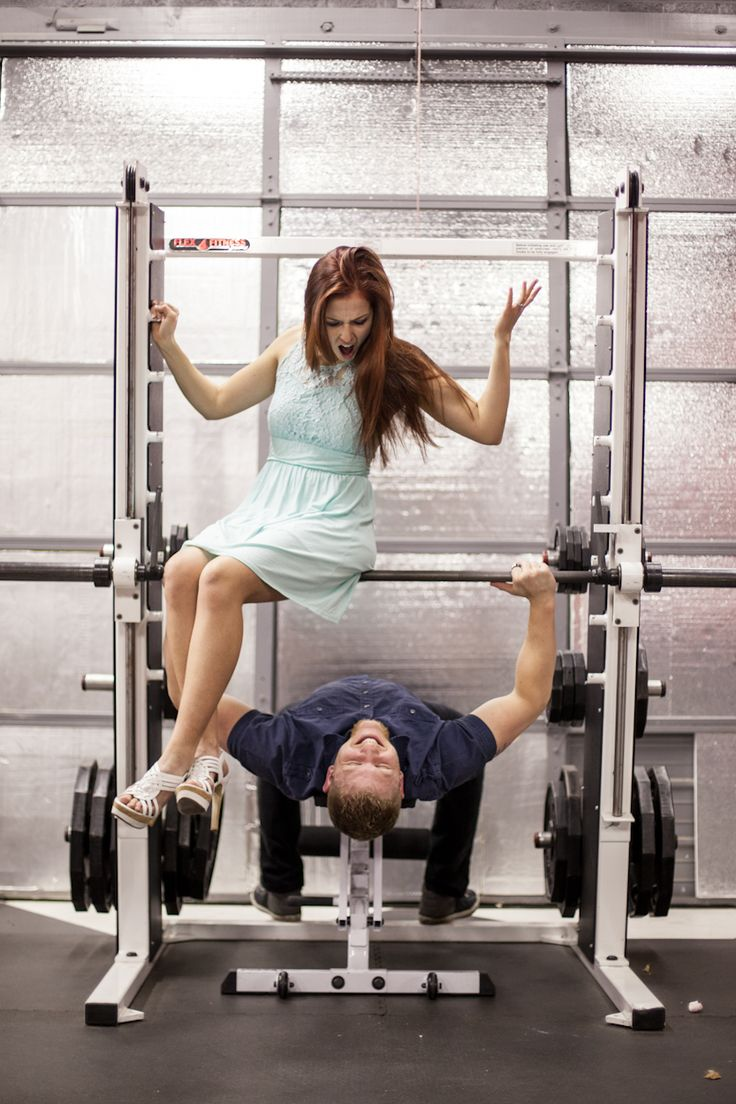 Gym Themed Engagement Photos. B Focused Photography & Design