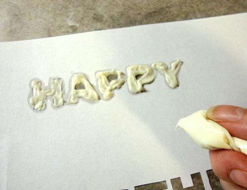 DIY Cake Decore Lettering