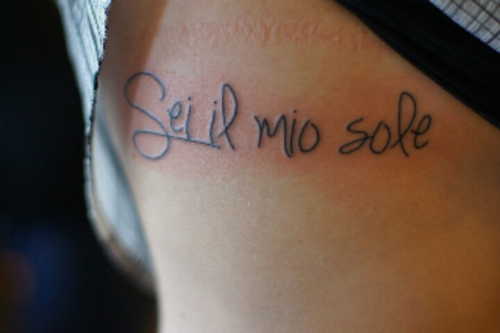 """Planned out in right arm half sleeve already, Italian (I'm part Italian) saying meaning """"you are my sunshine"""" sang to cadence when pregnant to calm her."""