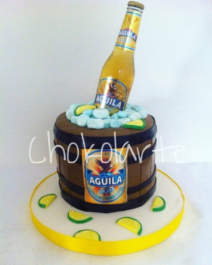 Torta cerveza Águila Light  Tortas temáticas Cali  Pedidos 318-502-2822