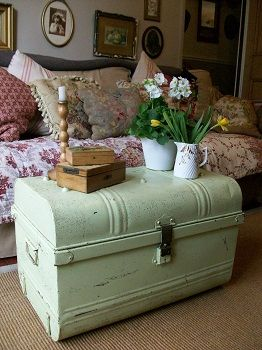 LAVENDER HOUSE VINTAGE - For all things authentically chic & shabby - would love the trunk, colour is awesome.