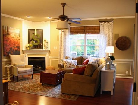 1000 ideas about sectional sofa layout on pinterest - Living room layout with corner fireplace ...