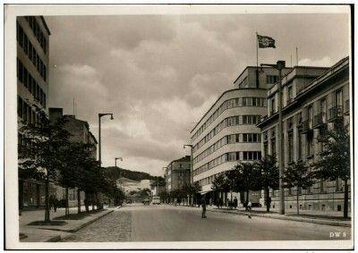 Ul. 10 Lutego budynek ZUS ( potem PLO i Urzędu Miejskiego ) Wyd. Muller & Sohn